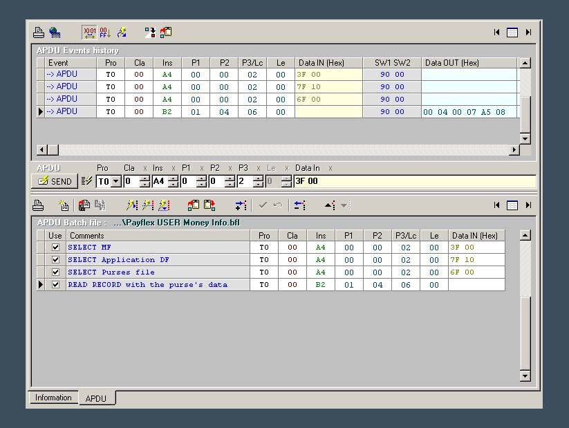 SCard SOFT :: APDU Batch files support